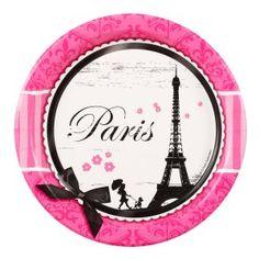 Paris Party Suppllies: Dessert Plates 8 Pk