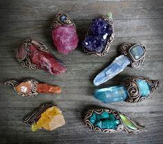 Beautiful colorful crystal pendants. #jewelry