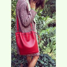 Red!!! ❤️❤️❤️ #bucketbag#red#instacool#instaphoto#instadaily#red#newcolor#newcollection#amirabags