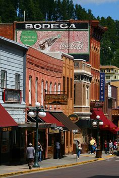 Historic downtown Deadwood, the Black Hills famous Western town