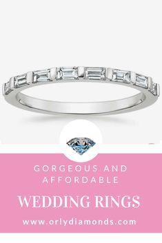 Baguette diamond wedding band at Orly Diamonds Baguette Diamond Wedding Band, Diamond Wedding Rings, Diamond Bands, Cool Wedding Rings, Wedding Bands, Diamonds, Engagement Rings, Jewelry, Enagement Rings