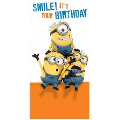Smile Its Your Birthday Minions Money / Gift Wallet Card