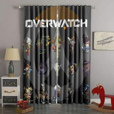 3D Printed Overwatch Style Custom Living Room Curtains Curtains Living Room, Decorative Curtain Rods, Elegant Curtains, Elegant Bedroom, Custom Curtains, Drapes Curtains, Curtains, Kids Shower Curtain, Curtain Decor