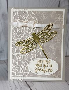 Handmade card made with StampinUp So Detailed Thinlits Dies