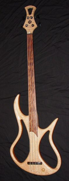 Stambaugh fretless custom Bass Lardys Chordophone of the day 2014 --- https://www.pinterest.com/lardyfatboy/