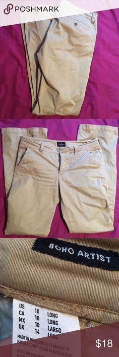 Khaki Pants American Eagle khaki pants 10 long American Eagle Outfitters Pants Boot Cut & Flare
