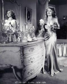 Rita Hayworth at her Vanity