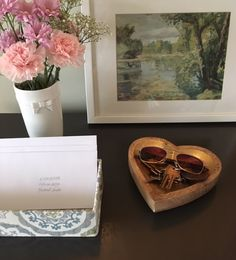 Lovely way to keep keys, sunglasses and anything you need while on the go easily accessible. Shop our heart shaped tray through our link in bio. Canadian Girls, Take You Home, Design Consultant, Home Gifts, Entryway Decor, Service Design, Montreal, Heart Shapes, Keys