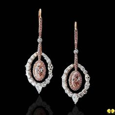 Dreaming of pink diamonds and we are so in love with this pair of brilliant earrings featuring pink diamonds from Novel's selection of rare fancy color diamonds #NovelCollectionAsia