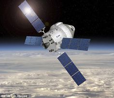 Europe is sharpening its skills in developing human space-transportation systems for missions beyond low-Earth orbit. An example is the European Service Module, to be used in conjunction with the NASA-developed Orion crew module. Space Projects, Space Crafts, Constellations, Orion Spacecraft, Bodies, Back To The Moon, Loin, Deep Space, Space Travel