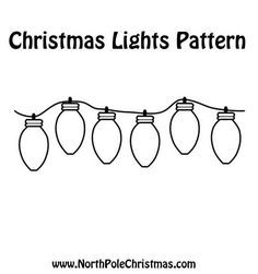 Gallery For > Christmas Light Bulb Template | Holidays - Crafts ...