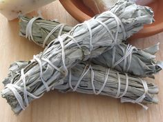Sage- to clear away any negative/stagnant energy and allow for the space to be refreshed and positive