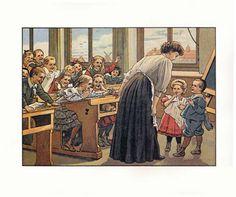 Ot  Sien Victorian Pictures, Vintage Pictures, Images Victoriennes, Vintage Illustration, School Images, Old Cards, English Fun, School Posters, School Daze