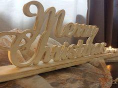 Scritta Merry Christmas porta candele