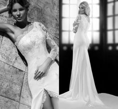 Wholesale Wedding Dresses - Buy Empire Bien Savvy Ball Gowns Wedding Chiffon Cheap Bridal Dresses With Lace Long Sleeves Sheer Backless Vintage 2014 Bling Sexy Dress Formal, $140.99 | DHgate.com