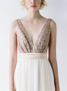 Rose gold sequin wedding dress - 'Eden' by Truvelle