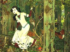 Snow White in the Woods     Vintage Image by OldDrawingsAndPhotos, $4.90