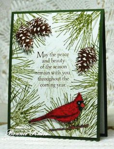 Ornamental Pine with Beauty of the Season by bon2stamp - Cards and Paper Crafts at Splitcoaststampers