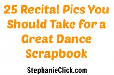 25 Recital Pics You Should Take for a Great Dance Scrapbook (This would be better for Nutcracker etc. when Smythe Smythe Meade wouldn't be in the audience the whole time! Dance Recital, Dance Moms, Dance Class, Dance Articles, Dance Convention, Teach Dance, Dance Makeup, Cheer Dance, Dance Teacher