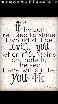 Sun, refused, shine, loving, mountains, crumble, sea