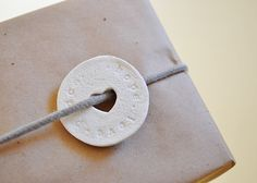 The Cheese Thief: Easy Gift Wrapping and Salf Dough Gift Tags
