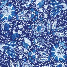 Windham Fabrics Williamsburg Annabelle Blue Jacobean Floral