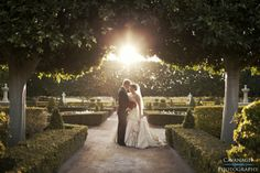 Hunter Valley Gardens wedding, the sun is just in the right spot