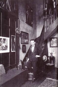 Man Ray in his Studio Paris 1935