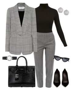 """Office Attire"" by sarahyounes98 on Polyvore featuring Diane Von Furstenberg, Piazza Sempione, self-portrait, Maison Margiela, Bulgari, Yves Saint Laurent and Fallon"