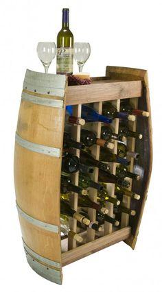 barrel stave wine rack - Google Search