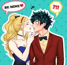 Watched My Hero Academia the Movie. Melissa could also be part of Deku's harem. My Hero Academia Episodes, My Hero Academia Memes, Hero Academia Characters, Boku No Hero Academia, My Hero Academia Manga, Anime Couples, Cute Couples, Yandere, Villain Deku