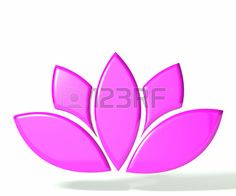 Pink lotus flower 3D image Stock Photo