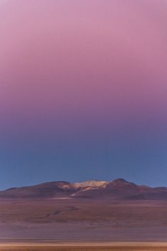 The colors in a sunset in the Salar de Uyuni are unreal!