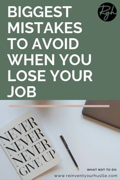 Here are the biggest mistakes to avoid when you lose your job & tips on how to set yourself up for success. Save yourself from embarrassment and read this! Losing You Quotes, Lost My Job, Lost Quotes, When You Leave, You Loose, Career Change, The Way You Are, Losing A Job, Get The Job
