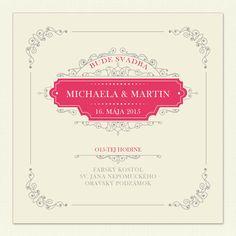 """Svadobné oznámenie """"Vintage svadba"""" je luxusné vintage svadobné oznámenie. Oznámte svadbu originálne s uniqueinvitations.eu. Oznámenie je aj s fotografiou."""