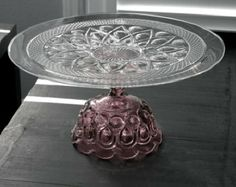 """Amethyst Cake Stand 16"""" Custom Cake Stand Pedestals in Plum Purple Violet / Vintage Cake Stands for Vintage Weddings by The Roche Studio Wedding Cake Stands, Wedding Cakes, Blue Cakes, Red Cake, Vintage Cake Stands, Cake And Cupcake Stand, Pedestal Cake Stand, Glass Cakes, Wedding Cake Designs"""