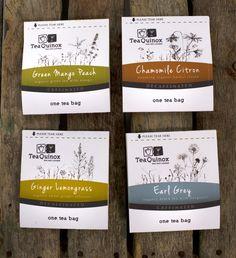 TeaQuinox Corporate Branding 6: Packaging Design by Sara Rudder, via Behance
