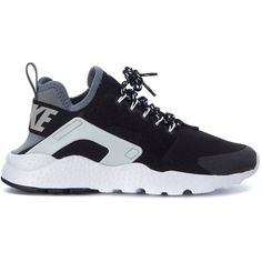 Sneaker Air Huarache Ultra Se in Black and Grey Fabric (€120) ❤ liked on Polyvore featuring shoes, sneakers, nike, nero, womenshoes, nike sneakers, nike footwear, nike trainers, black and grey shoes and nike shoes