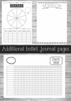 PRINTABLE BULLET JOURNAL ---------------------------------------- Love the way a bullet journal looks? But perhaps your dont have the time to draw out new pages constantly or maybe you feel you arent creative enough. This PDF contains 17 hand-drawn style journal pages, which provides a good base for you to start your bullet journal. It contains a PDF with: 1. Front cover 2. Habit tracker 3. Monthly Planner 4. Weekly Planner (part 1) x4 5. Weekly Planner (part 2) x4 6. Goal Wall 7. Goal…