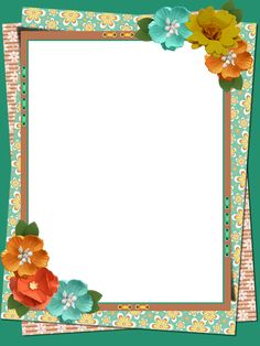 Frame Border Design, Boarder Designs, Page Borders Design, Flower Picture Frames, Flower Frame, Flower Boarders, Printable Border, Old Paper Background, Powerpoint Background Design