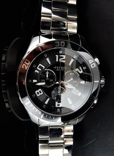 Ferro Jewelers - Watches   Stainless Steel Mens Chronograph Watch