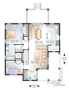 Détail du plan de Maison unifamiliale W3108-V4