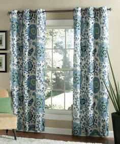 Indigo Medallions Curtain Panel   Set Of Two By M.style #zulily #zulilyfinds