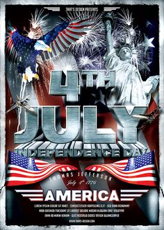 Fourth of July Independence Day   ... SEASONNALS / 4TH OF JULY / July 4th Independence Day Flyer Template