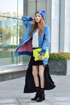 Streetstyle: Lee Seong Kyeong by Baek Seung Won at Seoul Fashion Week S/S 2014