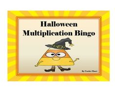 FREE HALLOWEEN MULTIPLICATION BINGO!In Halloween Multiplication Bingo, students write products on their game boards and try to get 5 in a row to be the winner. This is a great small or large group activity and reinforces key concept skills.This game also includes a multiplication chart/poster and blank foldable flashcards to give further practice.