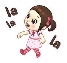 LINE Official Stickers - Neneng Gesrek: Little Crazy Girl Example with GIF Animation Cartoon Stickers, Cartoon Jokes, Cartoon Gifs, Funny Stickers, Cartoon Art, Cute Love Pictures, Cute Love Gif, Disney New Year, Islamic Cartoon
