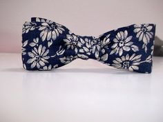 Navy Print Bow Tie Mens or Boys Wear Pretied ClipOn or by ClassA, $19.00 ~ Feast your eyes on this handsome navy blue print bow tie available in clip-on or an adjustable pre-tied styling. A men's or boy's bowtie made for the geek in you great for birthday and holiday giving.