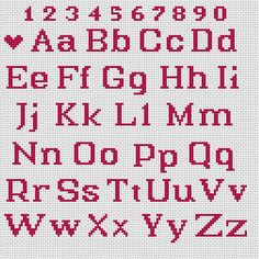 Cross Stitch Letter Patterns, Monogram Cross Stitch, Cross Stitch Numbers, Wedding Cross Stitch Patterns, Small Cross Stitch, Cross Stitch Bookmarks, Beaded Cross Stitch, Cross Stitch Designs, Cross Stitch Embroidery