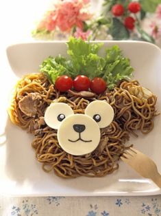Kawaii bear noodle